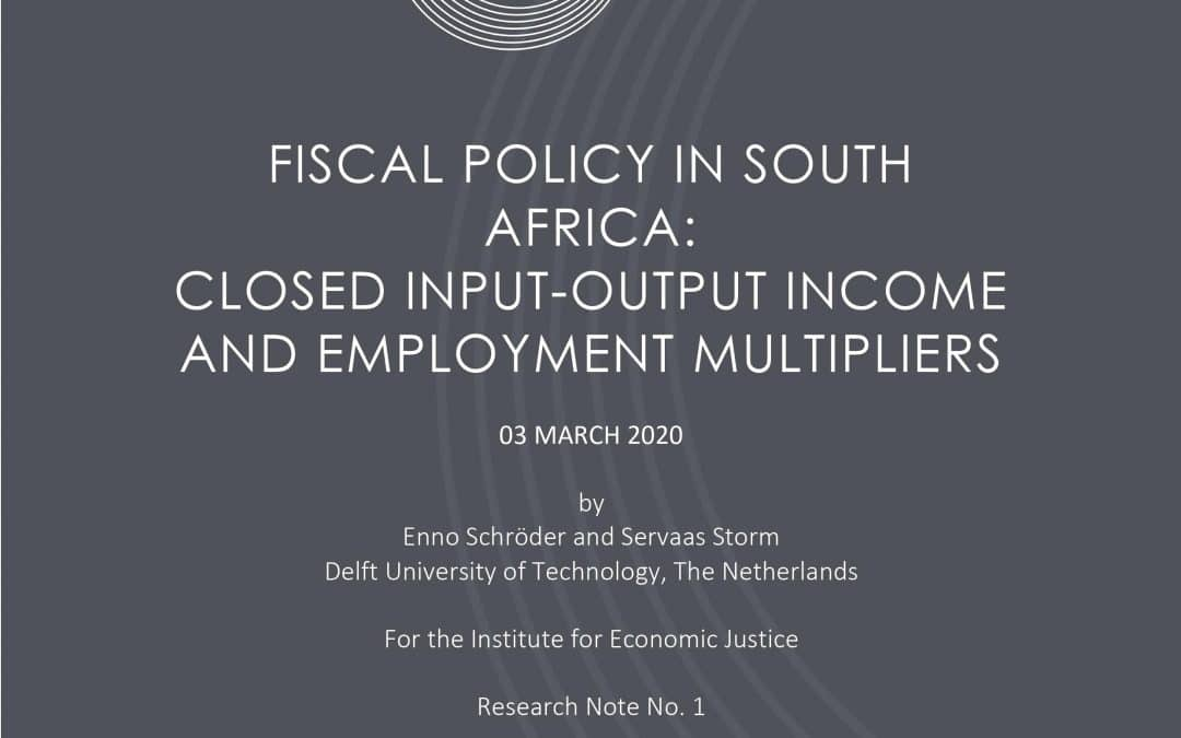 Fiscal policy in South Africa: closed input-output income and employment multipliers