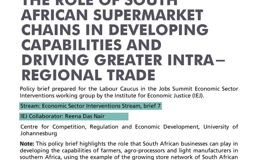 Stream 1 Policy Brief 7: Supermarket chains in Intra-regional Trade