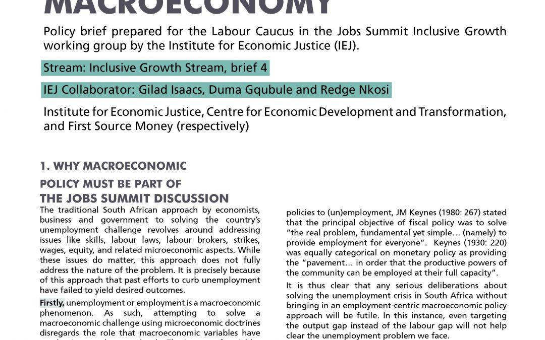 Stream 2 Policy Brief 4: Macroeconomy