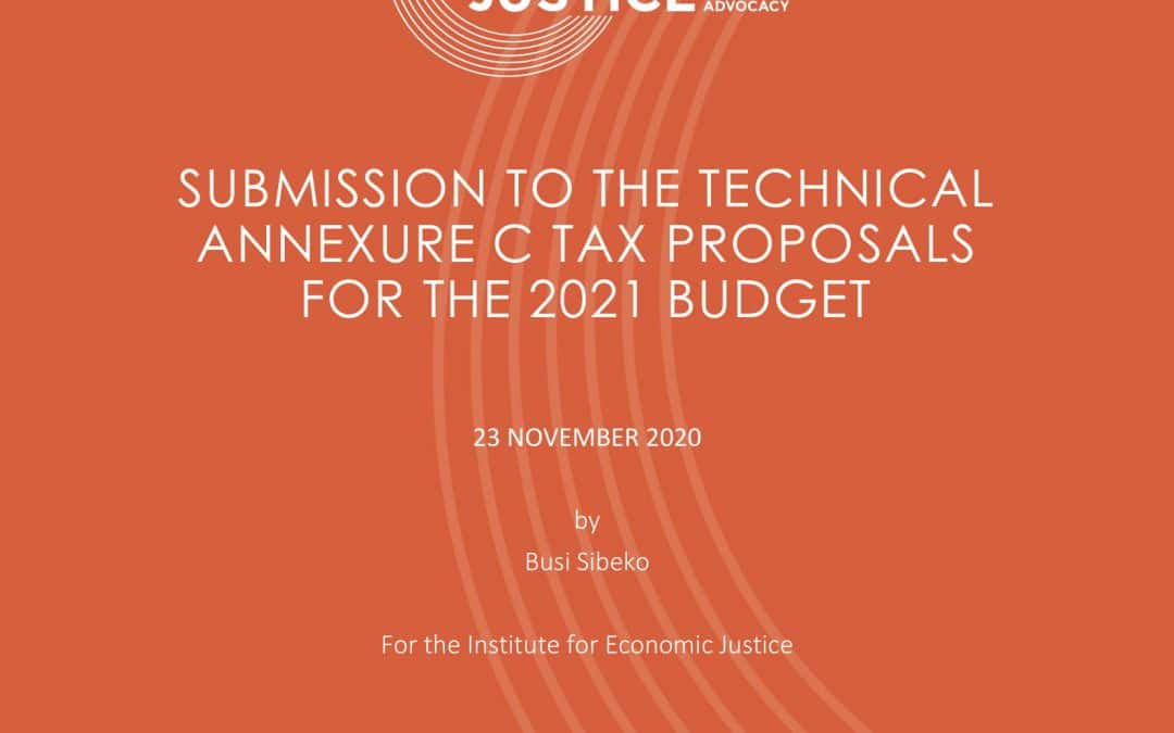 Submission to the Technical Annexure C Tax Proposals for the 2021 Budget