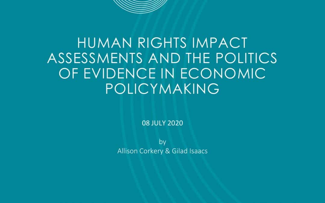 Human rights impact assessments and the politics of evidence in economic policymaking